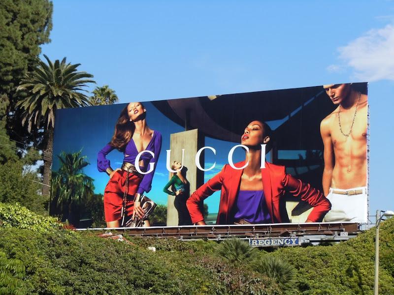 Gucci Spring glamour billboard