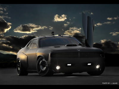 Dodge Challenger Blacked Out. The stealth-lack Air Force