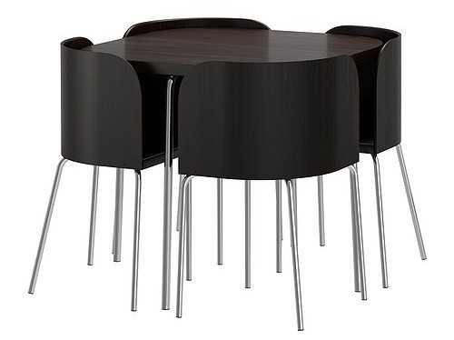 Dining Table Round Dining Table Hidden Chairs