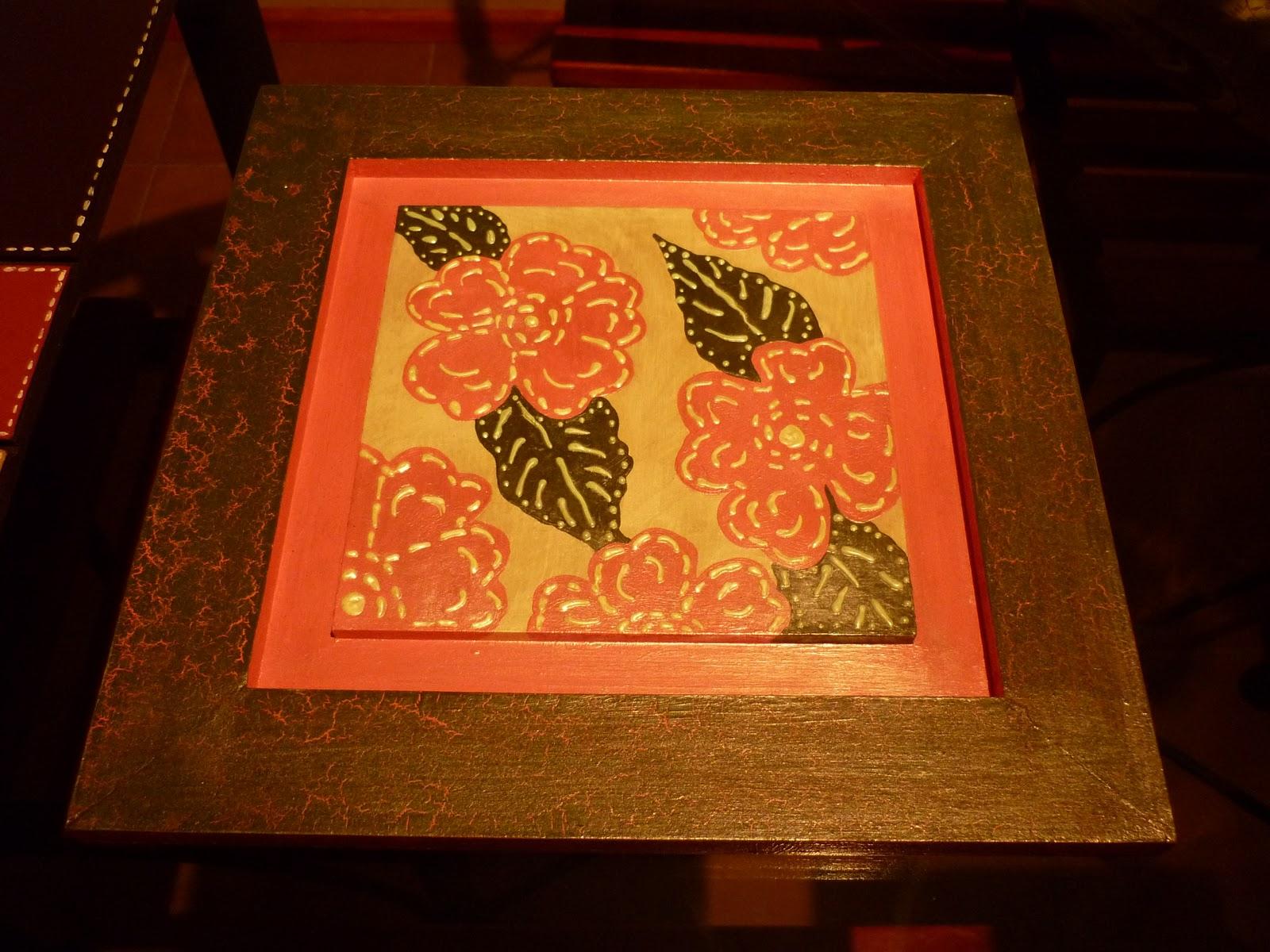 Manualidades pintura en madera con relieve - Pintura para lacar madera ...