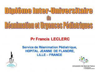 Dakar 2010 - FSP UMVF - DIUI en Création: Urgences et Réanimation Pédiatriques