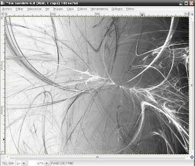 Efecto Fractal, Wallpapres con el GIMP Flama10