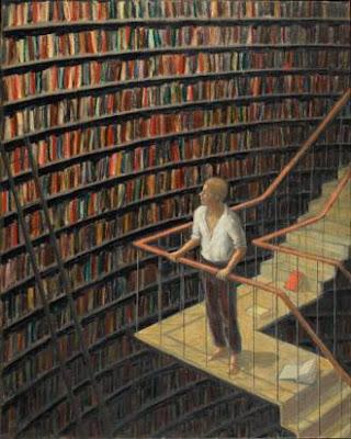 Una gran biblioteca llena de libros