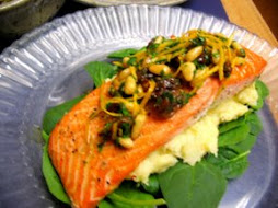 Wild Salmon with Lemon Relish