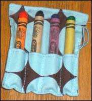 Cute little fabric mini crayon roll.
