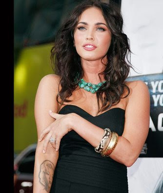 Megan Fox Tattoo - Celebrity Tattoo megan fox
