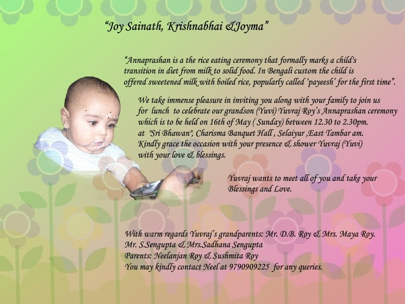 Invitation Letter Format For Annaprashan Choice Image Invitation