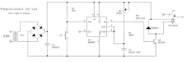 Circuito Temporizador : El rincon de los circuitos temporizador luz
