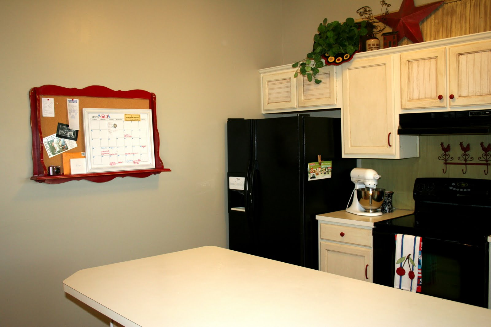 Happily decor after spray painting appliances - Paint for kitchen appliances ...