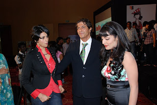 Gul Panag, Chunky Pandey and Celina Jaitley for the Hello Darling music launch