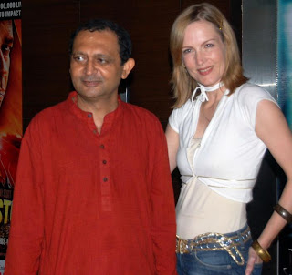 Akhil Mishra with a guest At Piranha 3d Premiere At Cinemax On 28th Oct 2010