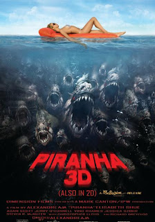 Piranha 3-D poster