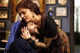 Hrithik Roshan and Aishwariya Rai Bachchan in Guzaarish