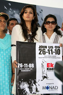 Raveena Tandon, Shaina NC for the Ek Kadam A March for Solidarity 26 Nov