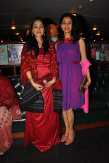 Disha Wakani and Neha Mehta at 500 episodes celebration party of TMKOC