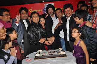 Shailesh Lodha, Dilip Joshi, Disha Wakani, N  P  Singh, Amit Bhatt, Asit Kumarr Modi,  Bhavya Gandhi @ 500 episodes celebration party of TMKOC