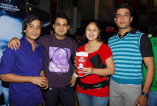Gaurav Gera and Kirti and Sharad Kelkar at the premier of horror film Kaalo