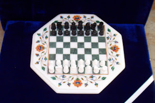 Marble Chess Board And Backgammon