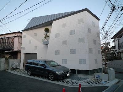Modern Japanese House - cute ladybug design