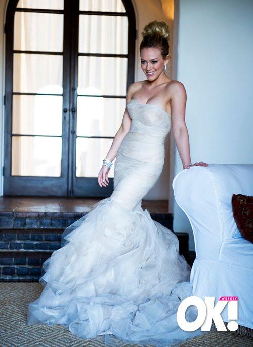 We Dream and Design: Hilary Duff\'s Wedding Dress