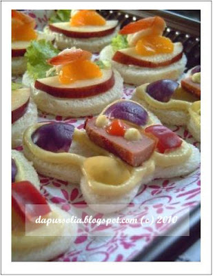 Dapur solia aneka kreasi canape for Resep canape sandwich