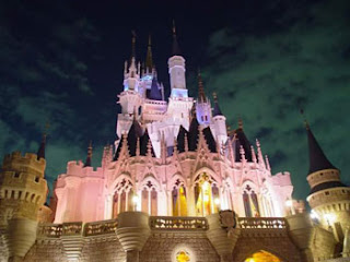 disneyland castle sceneries