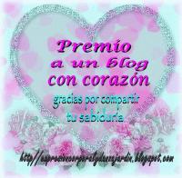 Premio a un blog con corazón