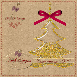Christmas Tree Charm - CU PSP SCRIPT (AloDezigns) Preview