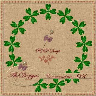St Patricks Day Frame - CU PSP SCRIPT (AloDezigns) Preview