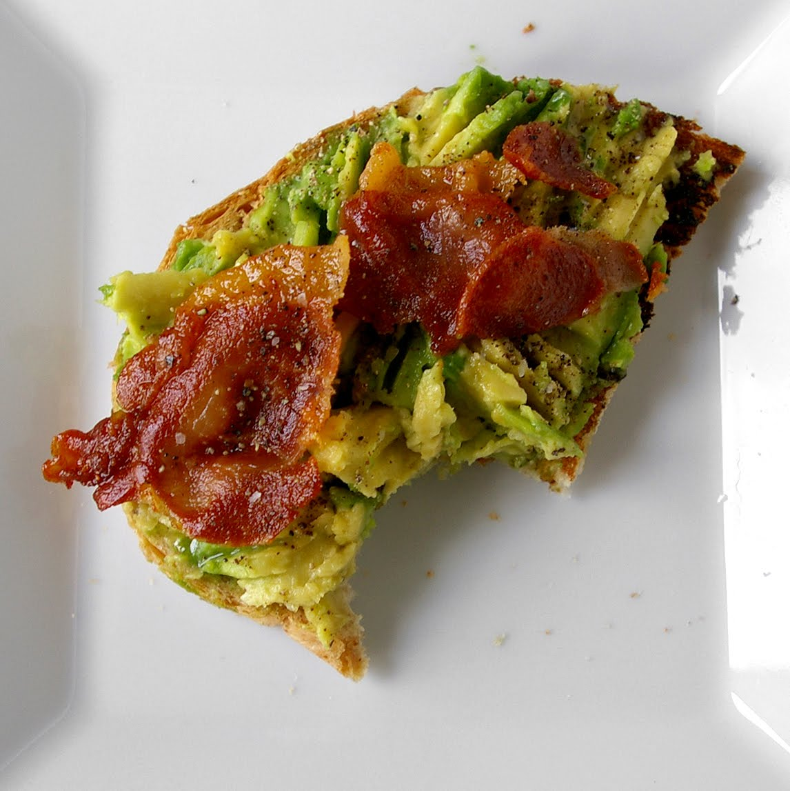 ... the avocado front and center it s called avocado toast for a reason