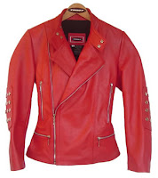 italian red leather jacket