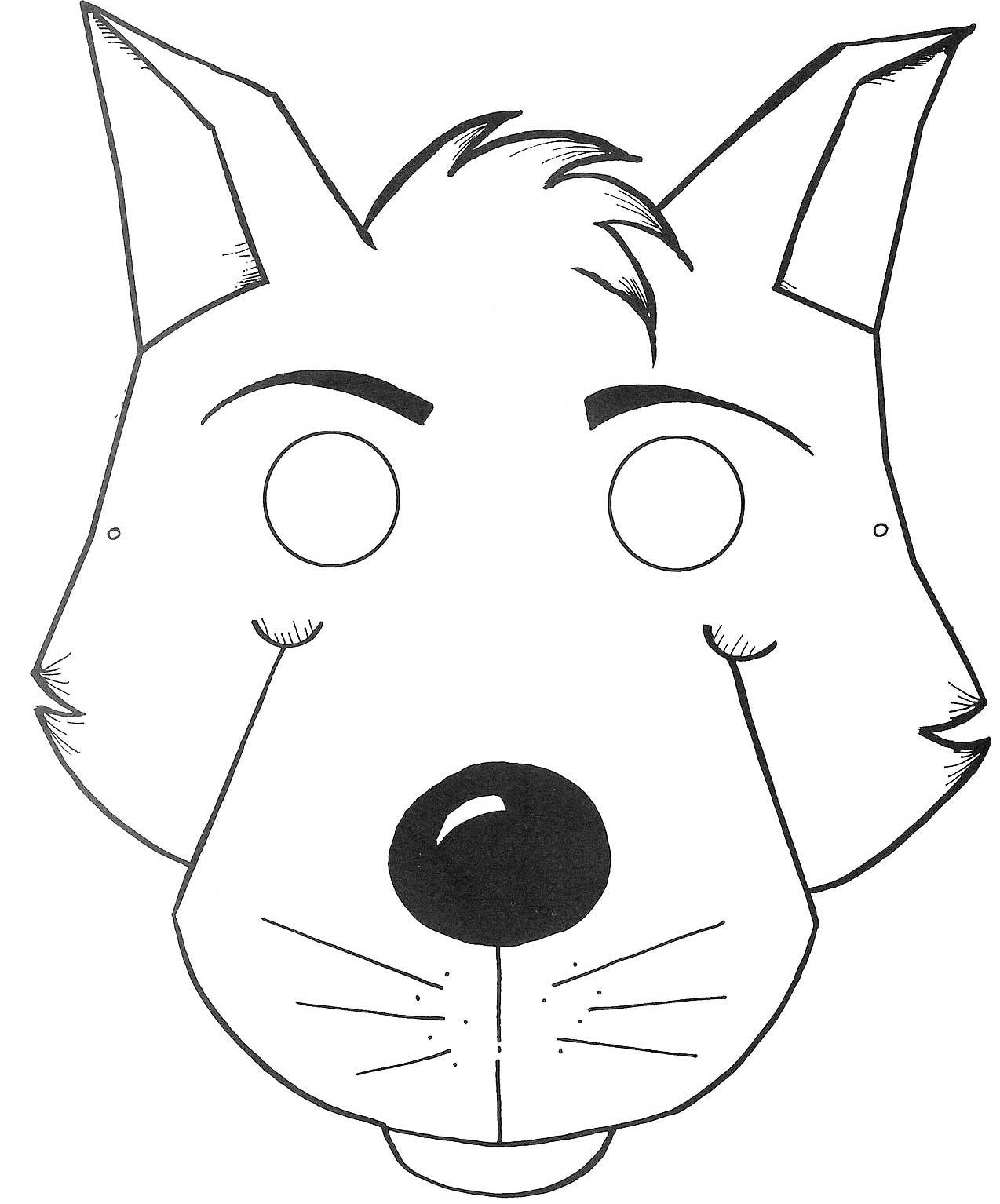 Как сделать маску волка из бумаги и картона СПРОСИ, КАК 85