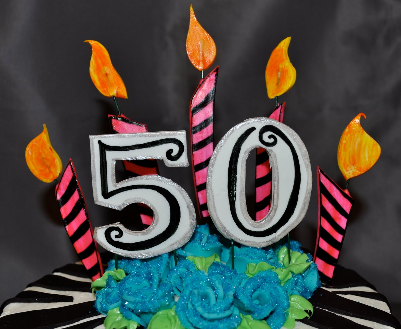 Its Nummy Num 50th Birthday Cake