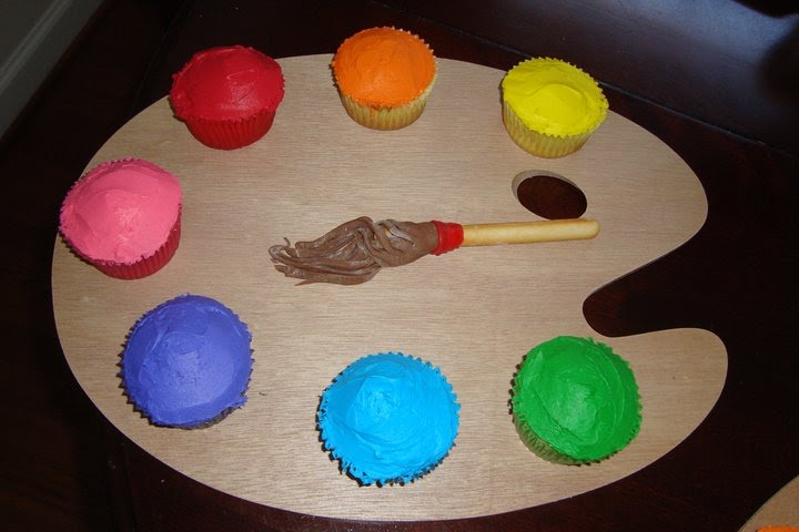 Artist Palette Cake Ideas : Sheek Shindigs: {Party Inspiration} Painter s Palette Cupcakes