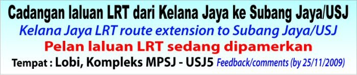 LRT Extension to Subang Jaya