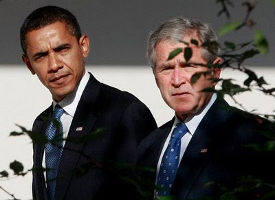 President Bush with President-elect Obama
