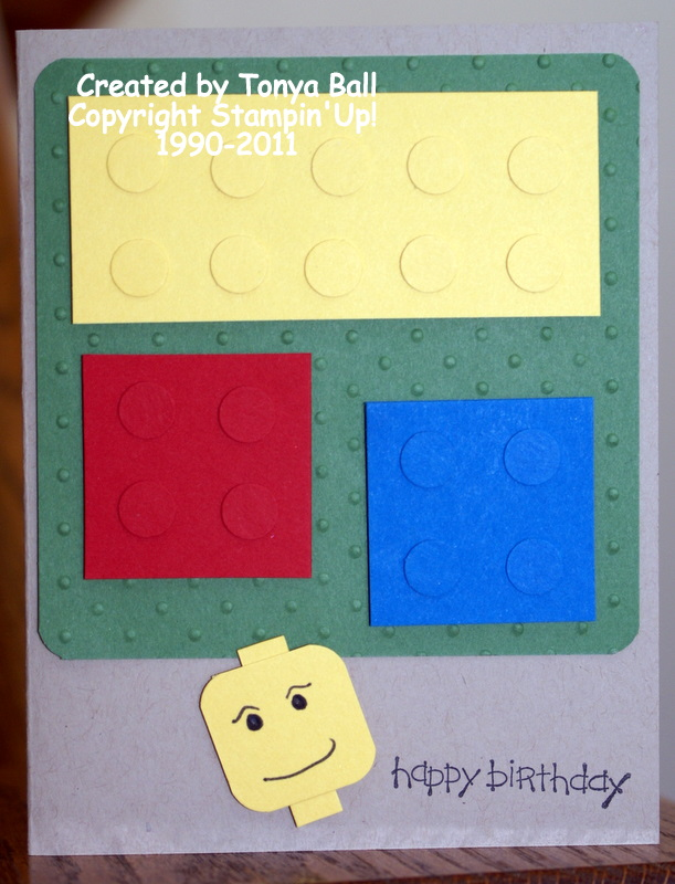Stampin With Tonya Lego Birthday Card