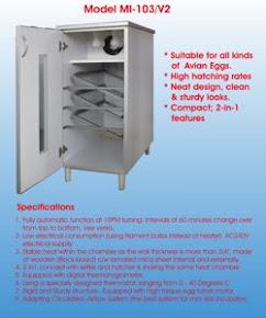 Inkubator Model MI-103V2