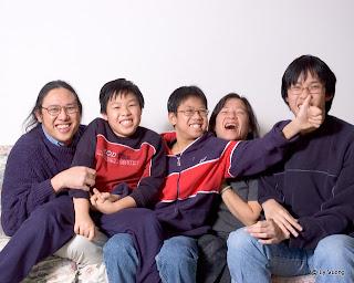 Family portrait on December 24th, 2008