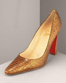 Metallic python pumps by Christian Louboutin