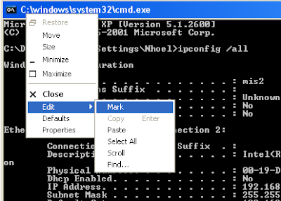 copy text command prompt