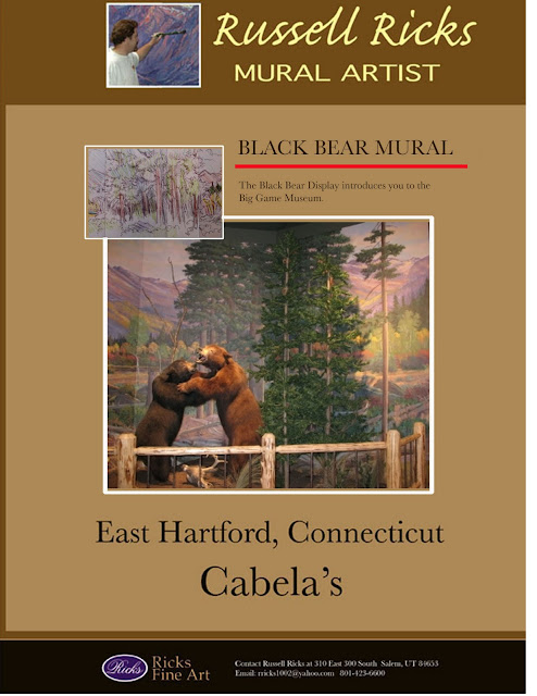 Cabela's Black Bear Display