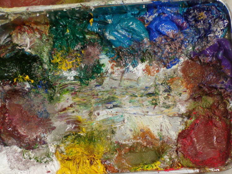 What's This? Abstract Art? No? It is actually my mixing pallet.