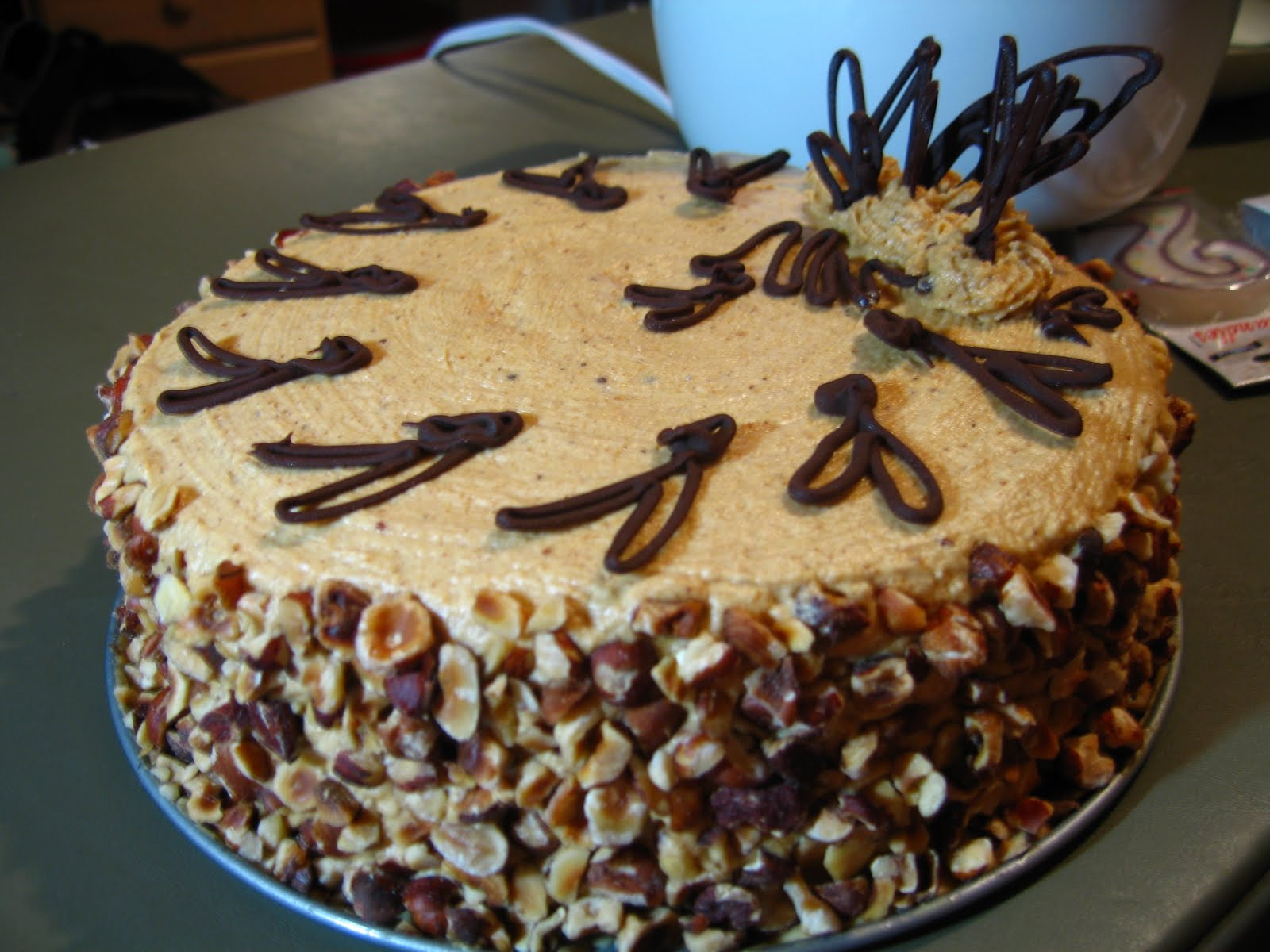Chocolate Hazelnut Torte with Hazelnut Praline Buttercream
