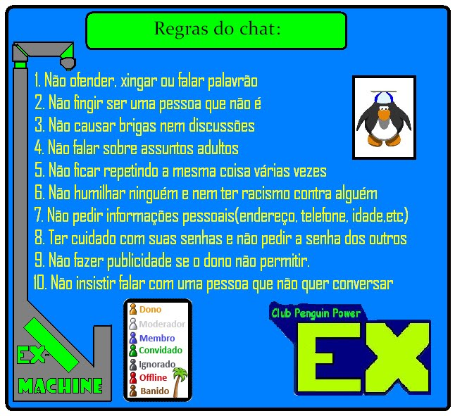 Regras do EX-Chat