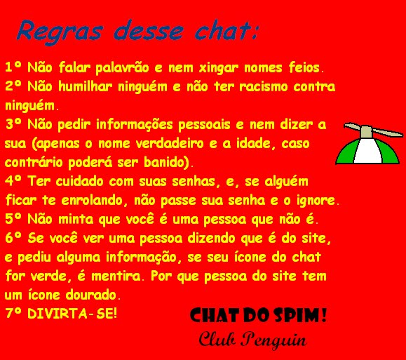 Regras do Chat do Spim: