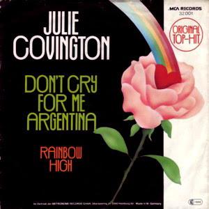 JULIE COVINGTON - DON'T CRY FOR ME ARGENTINA