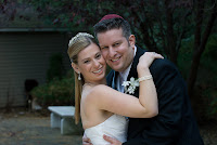 Alyssa Klein and her husband together on their wedding day