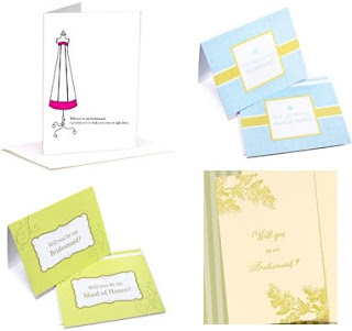 four bridesmaid proposal cards