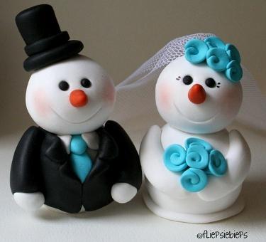 Snowman wedding cake topper - BridalTweet Wedding Forum & Vendor ...